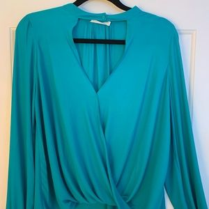 Emerald Green Cropped Blouse